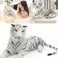 Large Tiger Plush Animal Realistic30cm White Tiger Hairy Soft Stuffed Toy Pillow