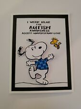 Snoopy I Wear Blue For Autism Awareness