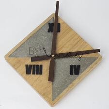 Modern Nordic minimalist Wooden Timber concrete cement clock