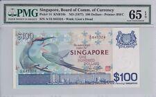 Singapore 1977 100 Dollars P-14 PMG Gem Unc 65 EPQ
