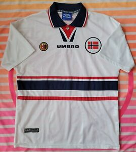 Vintage Authentic Rare Norway Jersey Umbro World Cup Medium shirt NORGE Soccer