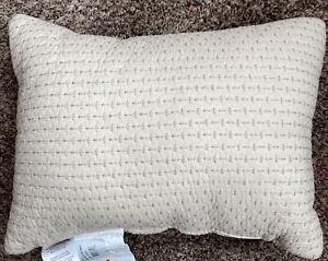 "CROSCILL DEVON Boudoir Pillow In Natural Embroidered 12"" x 16"" NEW"