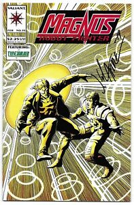 Magnus Robot Fighter 33 Signed Jim Calafiore Autographed Valiant Combined Ship