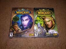 World of Warcraft & The Burning Crusade. With manuals..PC Windows Mac Game