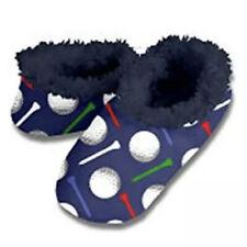 Snoozies Golf Balls Tees Navy Mens Large 11 12 Non-Skid Soles Slipper Socks New