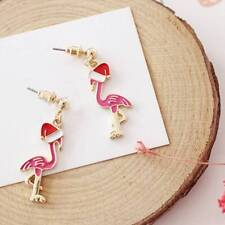 1pair Acrylic Crane Seabird Flamingo With Cap Earrings Christmas Earrings Gifts