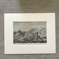 1865 Antique Print Cape Fligely The North Pole Russia Landscape View