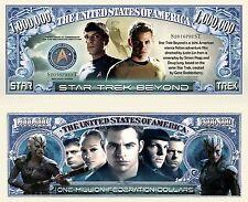 Star Trek Beyond Million Dollar Bill Collectible Fake Funny Money Novelty Note