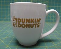 Dunkin' Donuts Coffee Mug With Gold Letters Ceramic