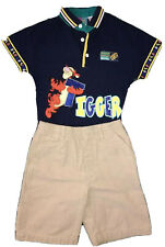 Disney Toddler Tigger Outfit - Khaki Shorts and Blue Shirt In Size 4 Authentic!