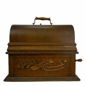 EDISON TRIUMPH TYPE a CYLINDER PHONOGRAPH  S/N 40294