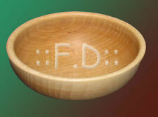 Wooden Bowl 9 inches  Very solid - stylih decoration kitchen NEW