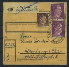 Paketkarte 1943 SYTHEN siehe Beschreibung (117429)