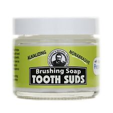 Uncle Harry's Natural Brushing Soap Tooth Suds - Peppermint (2 oz glass jar