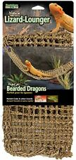 New listing Reptile Lizard Lounger Natural For Anoles Bearded Dragons X Large Hammock 29 x 7