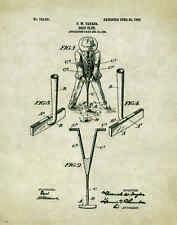 Golfing US Patent Poster Art Print Antique Golf Ball Clubs Shoes Putter PAT124