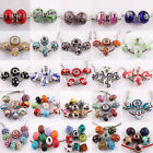Hot 5/10Pcs Lampwork Glass Ceramic Glossy Loose Spacer Beads Jewelry Findings