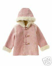 Janie & Jack Metallic Embroidered Shearling Coat 12-24M
