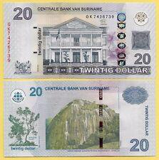 Suriname20 Dollars p-164 2012 UNC Banknote
