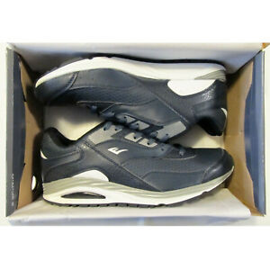 NEW NiB EVERLAST BOBBY RUNNiNG SNEAKERS SHOES NAVY BLUE SiLVER GRAY MENS SiZE 10