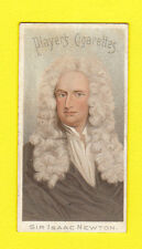 PEOPLE - FAMOUS AUTHORS & POETS  -  JOHN  PLAYER  -  SIR  ISAAC  NEWTON  -  1900