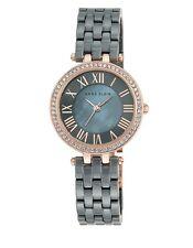 Anne Klein Women's Gray Ceramic Swarovski Accent Crystal Watch AK/2200RGGY