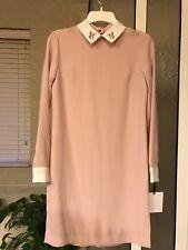 NWT Victoria Beckham For Target Womens Bunny Rabbit Blush Pink Collar Dress XS