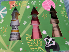 3pc The Body Shop Hand Creams Almond Milk Strawberry Shea 1oz Ea New