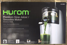 Hurom Premium Slow Juicer / Smoothie Maker Model HG-SBB07 Stainless Steel