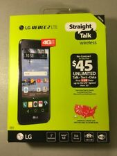 Straight Talk LG Rebel 2 LTE 8GB Prepaid L58VL Android Smartphone Black    NEW!!