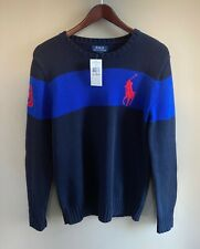 NEW Polo Ralph Lauren Teen Boys XL (18-20) Knit Sweater Large Pony Hunter Navy