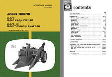 New listing John Deere - John Deere 227 Corn Picker & 227-S Corn Snapper Operators Manual O