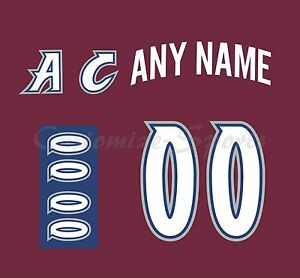 Colorado Avalanche 2007-2017 Burgundy Jersey Customized Number Kit un-sewn