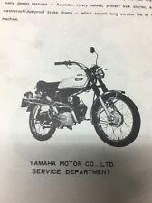 Yamaha Original 1971 G6S-B Service Manual! RARE! / Motorcycle Repair Maintenance