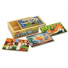 NEW Melissa and Doug Pets Jigsaw Puzzles in a Box - Pet Animal Dog Cat Bird Fish