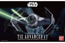 Star Wars Plastic Model Kit 1/72 TIE ADVANCED X 1 Bandai Japan NEW **