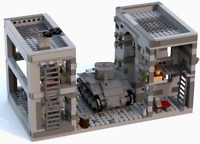 Lego WW2 MOC - Town of Carentan and Sherman Tank PDF Instructions Only - NO LEGO