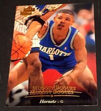 MUGGSY BOGUES 1995-96 Upper Deck ERROR Double Name Logo SCARCE #41 poss 1/1?