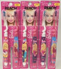 LOT OF 6! REACH BARBIE SOFT BRISTLE YOUTH TOOTHBRUSHES BRAND NEW! FREE SHIPPING!