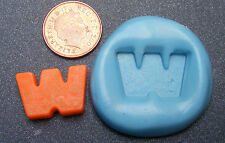 """Reusable Letter """"W"""" Silicone Food Safe Mould, Mold, Sugarcraft, Jewellery, Cake"""