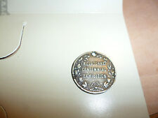 1888 Melbourne Centenary Exhibition souvenir medalet in silver.
