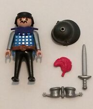 Playmobil Blue Knight With Mustache From Set 6464! Playmobil Knight! Playmobil