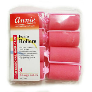 """ANNIE CLASSIC FOAM CUSHION ROLLERS #1054, 8 COUNT PINK X-LARGE 1-1/4"""""""