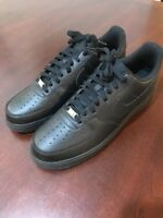 Mens Nike Air Force One 1 Shoes Sneakers 488298 033 New Black Size 13