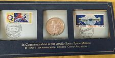 1975 Apollo-Soyuz Space Mission Silver Proof Coin First Day Cover Limit Edition
