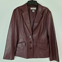 Preston & York Burgundy Lambskin Women's Jacket (Size M)