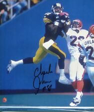 CHARLES JOHNSON autographed 8x9 color photo          PITTSBURGH STEELERS