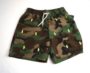 "POLO RALPH LAUREN Men's 5.5"" Traveler Camo Print Swim Trunks NEW NWT"