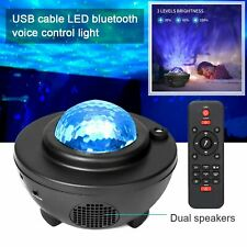 Led Galaxy Projector Lamp Starry Sky Night Light Ocean Star Party Speaker Remote