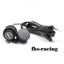 12 V Doppel-USB-Einbausteckdose , Steckdose , Auto , Motorrad Roller Boot NAVI !